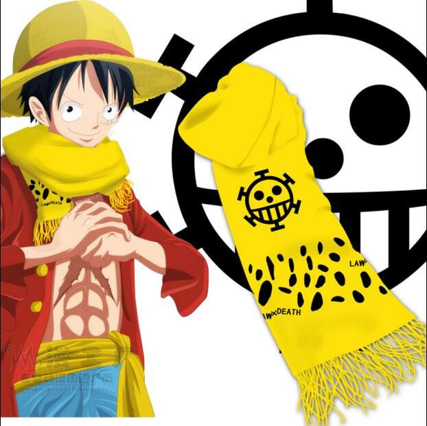 Hot New Animation ONE PIECE Scarves Boy & Girl Students Knitted Scarf Wholesale Costumes Accessories Free Shipping