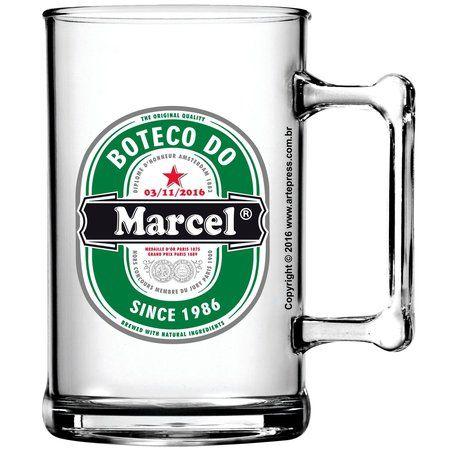 Caneca Acrilico Aniversário Boteco Heineken