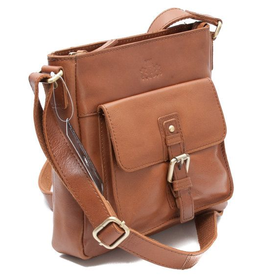 """New Handmade Veg Tan Lady's Leather Cross Body Bag, Oil Tanned Buffalo Leather """"This small bag is perfect for festivals in summer time.  It has a cross body strap, allowing you to dance with both your arms free, and it's big enough to keep a camera, wallet and glow sticks in!"""" - Heather, LOVESPACE's Marketing Team"""