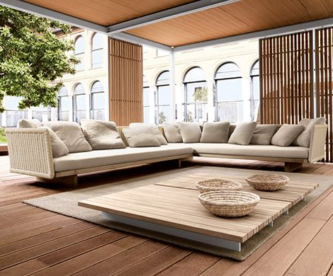 Outdoor Sectional Sofa in New Furniture Collection of Paola Lenti