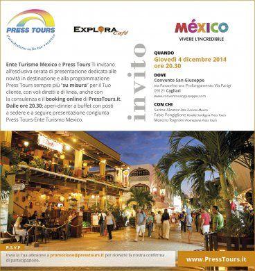 Serata Press Tours in collaborazione con l'Ente del Turismo del Mexico