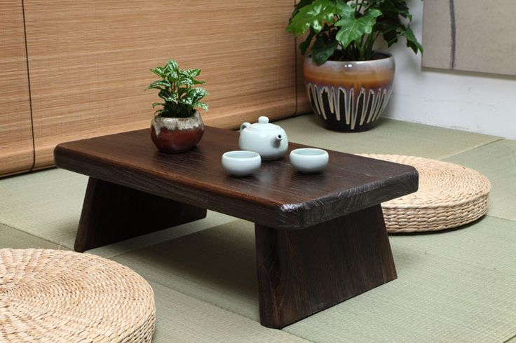 3. The furniture is usually small and close to floor because of their culture. Still including the dark and subdued colors.