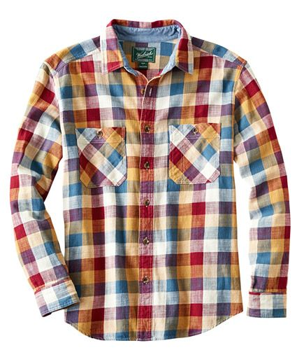 Men's Homespun Plaid Flannel Shirt.  Look-book: Hardwick Clothing Company, Hardwick Vermont.