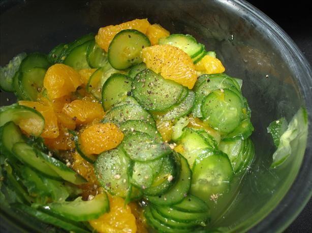 Sweet mandarin and cucumber salad
