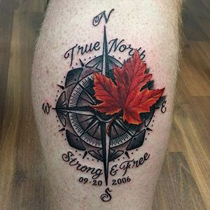 True North Strong and Free Tattoo
