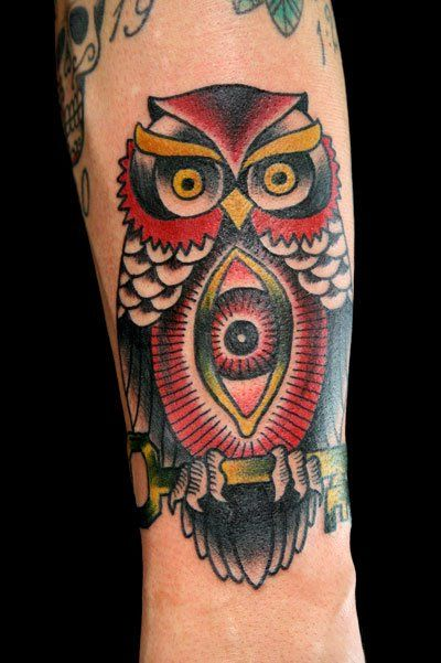 american traditional owl tattoos | More Tattoo Images Under: Traditional Tattoos