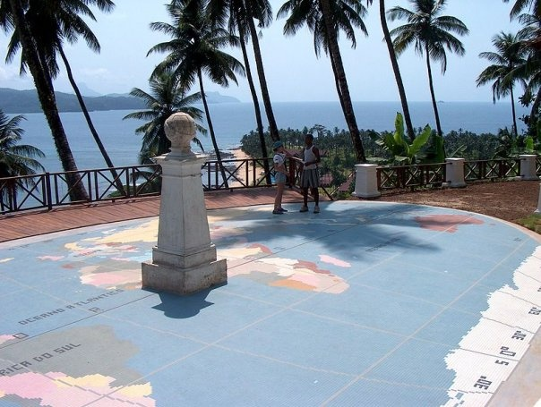 This is where the equator passes through in Sao Tome Island, West Africa