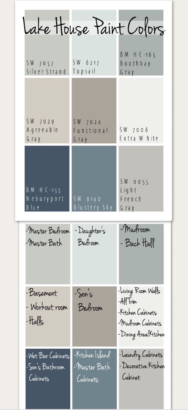 sherwin williams lakehouse palette country home paint on lake house interior paint colors id=24498