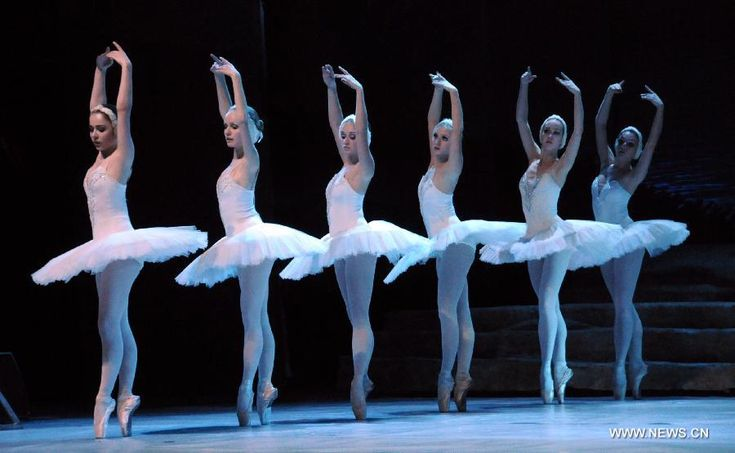 Dancers from a Russian ballet theater in St. Petersburg perform 'Swan Lake.'