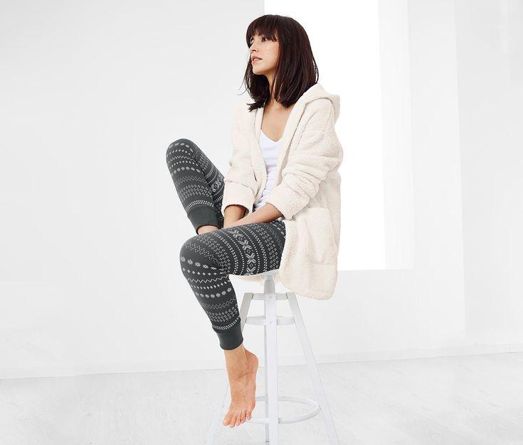 Női leggings, norvégmintás, szürke 331720 a Tchibo-nál.