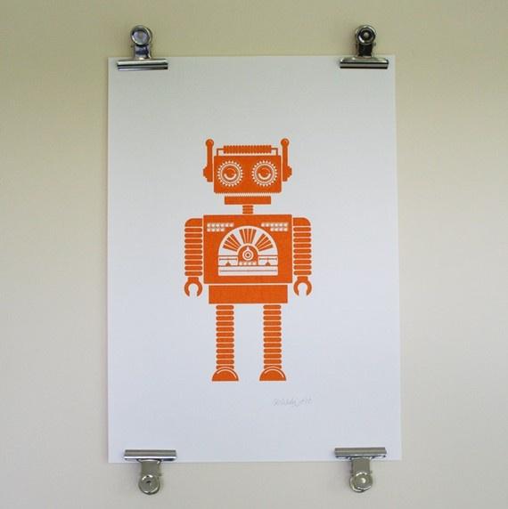 Robot screen print
