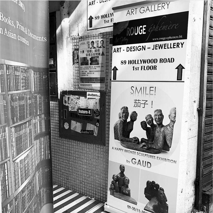 Thank you @helenbronteboydartist for the pictures! #gaud #sculpture #exhibition #bronze #hongkong #centralhk #pmq #hollywoodroadhk #art