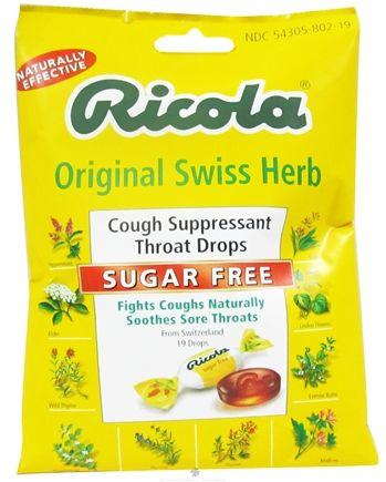 Buy Ricola - Natural Herb Throat Drops Sugar Free - 19 Lozenges at LuckyVitamin.com