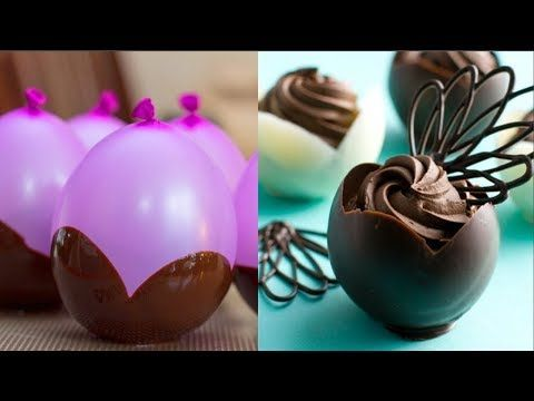Amazing Chocolate Cakes Decorating ideas Compilation - How to make Balloon Chocolate Bowls - YouTube