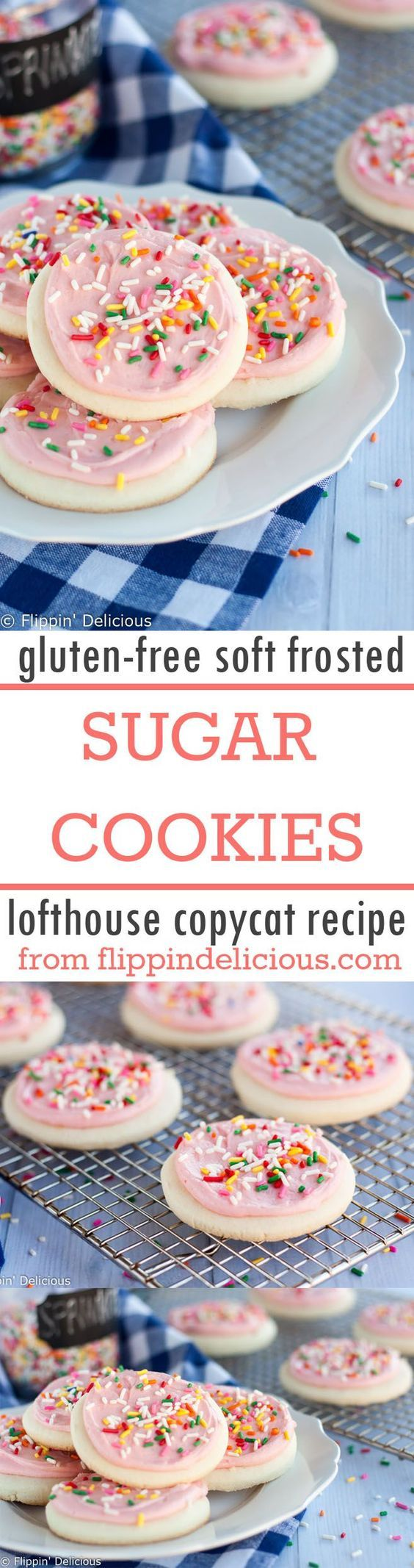 Lofthouse Copycat {Gluten Free!!!} Soft Frosted Sugar Cookies Recipe   Flippin Delicious