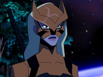 """Season 2 Episode 20 Endgame: Artemis: """"You look good."""" Impulse(Bart): """"Really? Cause i feel like a fraud."""" Artemis: """"Well, dont. You're honoring Wally's memory by becoming Kid Flash. I know he'd be proud."""" Impulse(Bart): """"Thanks. So, you suited up, but as Tigress?"""" Artemis: """"Artemis was Wally's partner. I need some distance. I need a change. So let's see how Tigress does."""" Impulse(Bart): """"As a hero?"""" Artemis: """"As a blonde."""""""