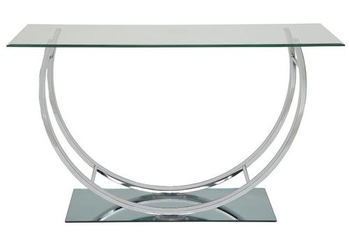Modern Chrome U-Shaped Sofa Table 704989