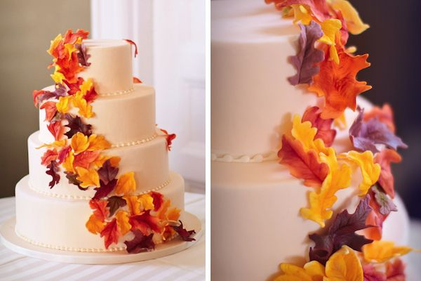 Fall wedding cake by Kendall's Cakes/Terra Dawn Photography