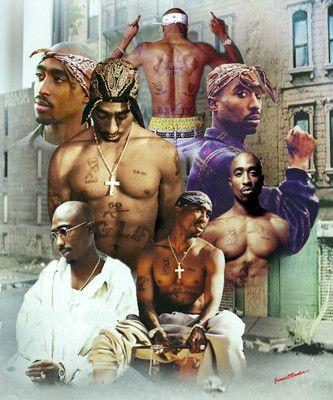 Just released Tupac Shakur fine Art Giclee Collage print size( 24x30