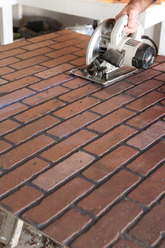 Whitewashed faux brick backsplash (10 of 18)