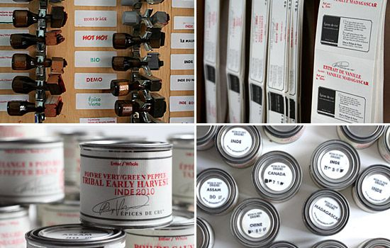 """The """"Epices de cru"""" spices are packed and labelled by hand."""