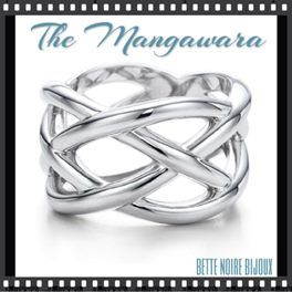 One of the most popular styles of all our rings at Bette Noire, the Mangawara ring is a beautiful, graceful band that can be worn as a wedding band or as a fashion ring. Sizes 5-10, $16.00.