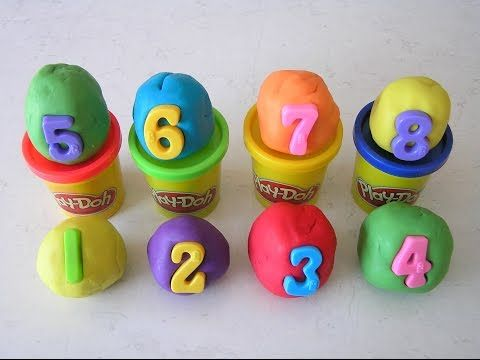 Play Doh 8 Number Surprise Eggs Angry Birds Star Wars Tom & Jerry Tinkerbell Smurfs Happy Feet - YouTube