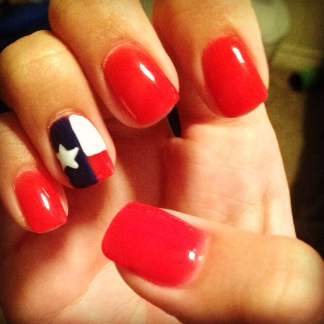Texas Nails ❤️ @thesnugglybunny you HAVE to help me with these D: