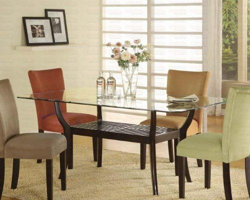 14 Best Glass Top Dining Table Images On Pinterest  Dining Sets Interesting Glass Top Dining Room Table Decorating Inspiration