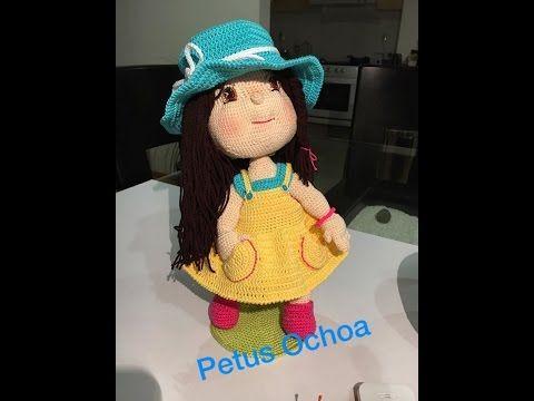Como tejer piernas de la muñeca Julieta Amigurumi By Petus PRIMERA PARTE - YouTube