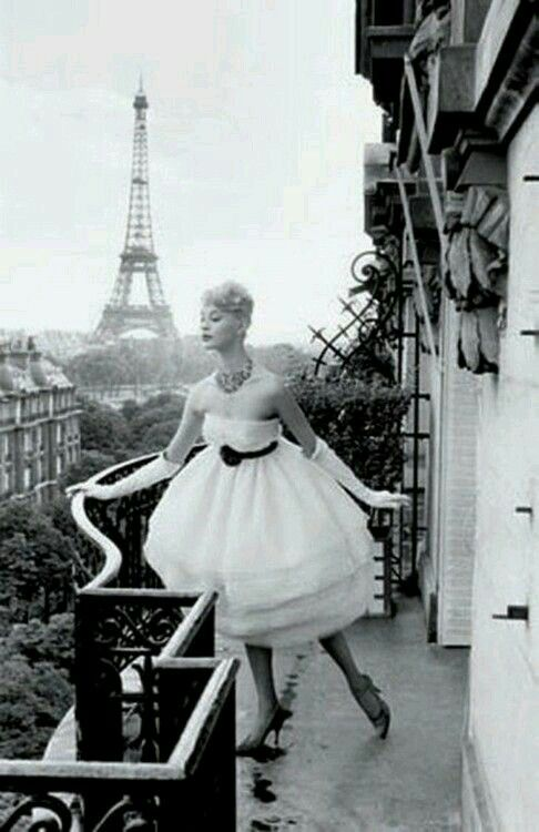 Paris on a balcony