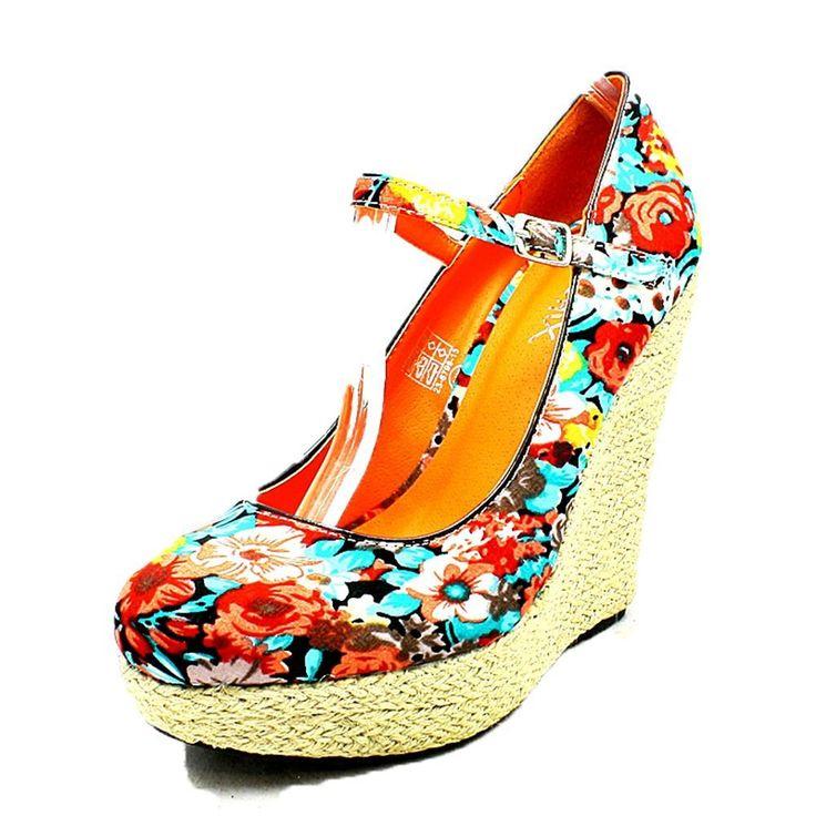 Sendit4me - Ladies floral canvas wedge heel sandals with bar strap, £12.00 (https://www.sendit4me.com/ladies-floral-canvas-wedge-heel-sandals-with-bar-strap/)