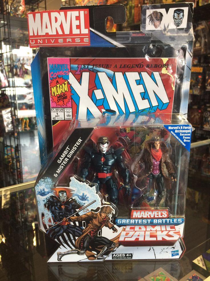 Marvel Universe Gambit & Mister Sinister Marvel's Greatest Battles Comic Pack Hasbro