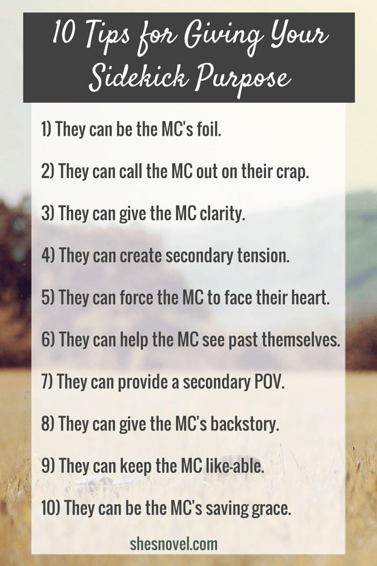 10 Tips for Giving Your Sidekick Purpose | She's Novel