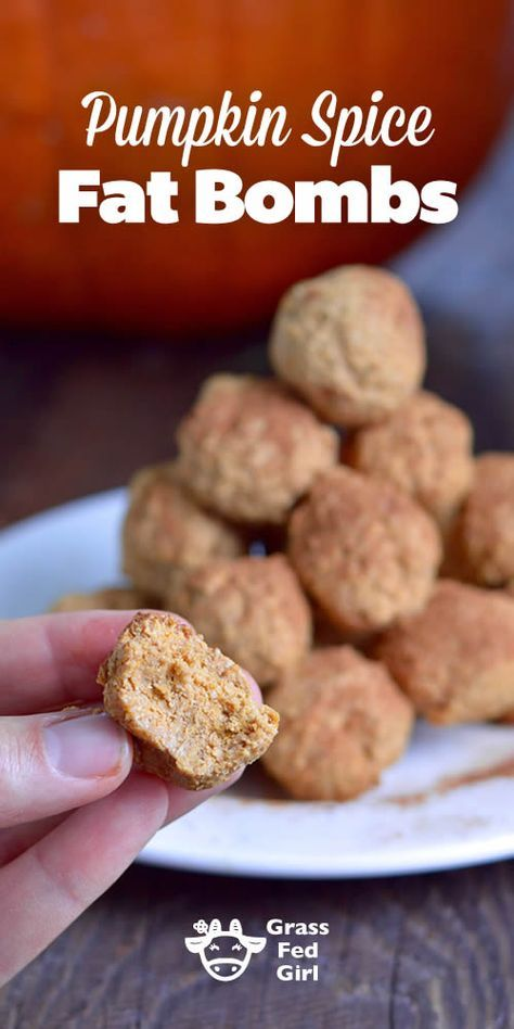Pumpkin Spice Keto Fat Bomb Recipe- low carb, ketogenic, gluten free, paleo healthy dessert recipe.