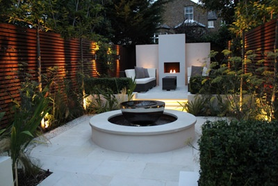 Similar to Lifescape.  Landscaping Solutions - Putney Project *Chalice water feature at the center of an award winning garden*