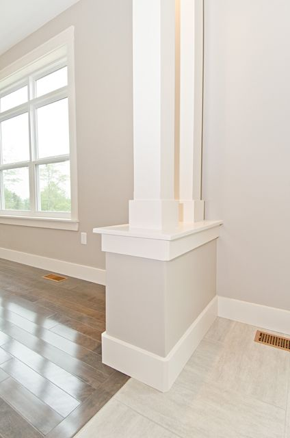 Columns can add beautiful character to your home and gracefully transition separate areas within an open concept space such as between a dining area and living room. Stonewater Homes, Halifax, NS. www.stonewaterhomes.ca
