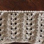 free eyelet rib knitting stitch pattern