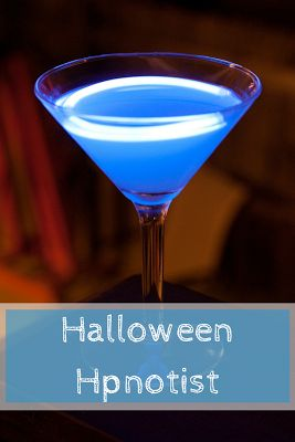 The Halloween Hpnotist - A Year of Cocktails The Halloween Hpnotist will put you under it's spell with a mix of Hpnotiq, vodka and lemon juice.