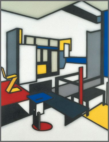 Mondrian tribute by Howard Arkley