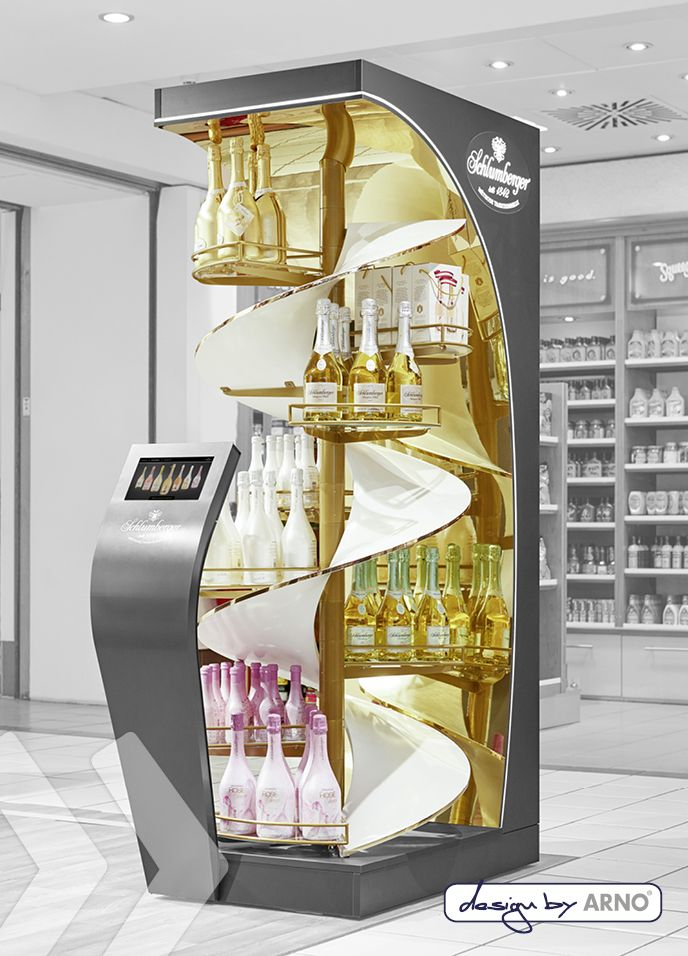 Schlumberger Free Standing Display Unit made by ARNO