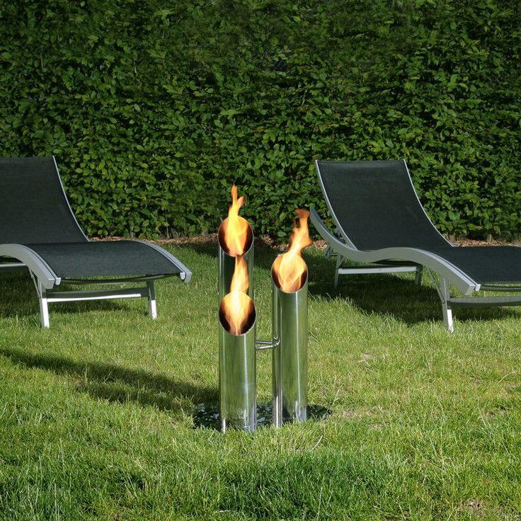 Bio-Blaze Free Standing Bio-Ethanol Fireplace Pipes Small BB-PS