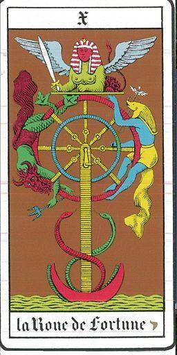 significado roda da fortuna no #tarot: Tá com sorte?