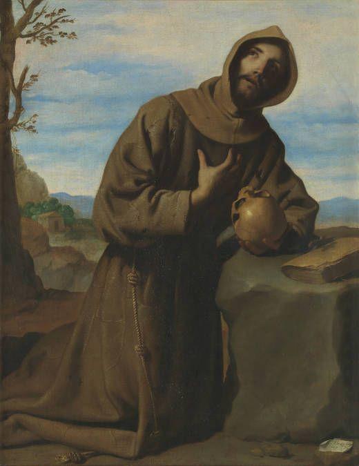 San Francisco en oración - Francisco de Zurbarán (1598-1664). Óleo sobre lienzo, 126 x 97 cm. Firmado en 1659