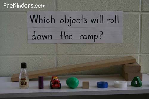 science-ramps We also have different materials to put on the boards, such as bubble wrap, wax paper, and sandpaper for the children to test which materials help or prevent cars from rolling down