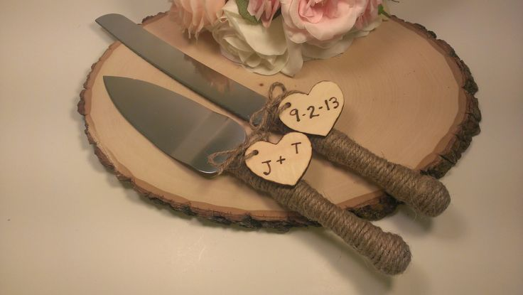 Unique Wedding Cake Knives | ... wedding cake cutter and knife customized burlap wedding cake knife @Stacey McKenzie Comeau