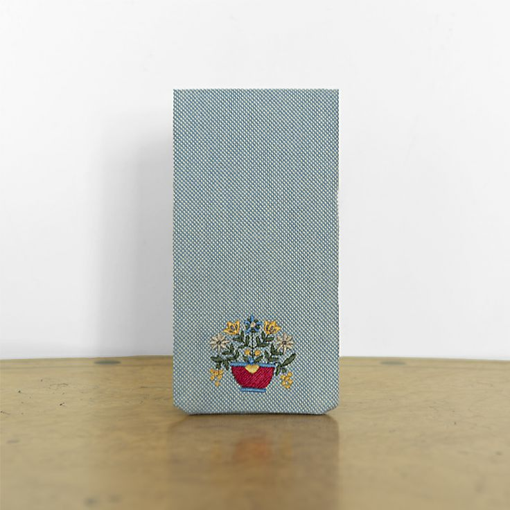 mobile case embroidered with Greek traditional design