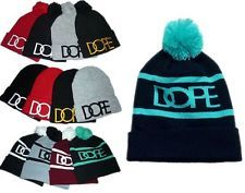 New Men's Clothing DOPE Beanies warm Winter Cotton knit Cap Hip Hop Fashion Hats