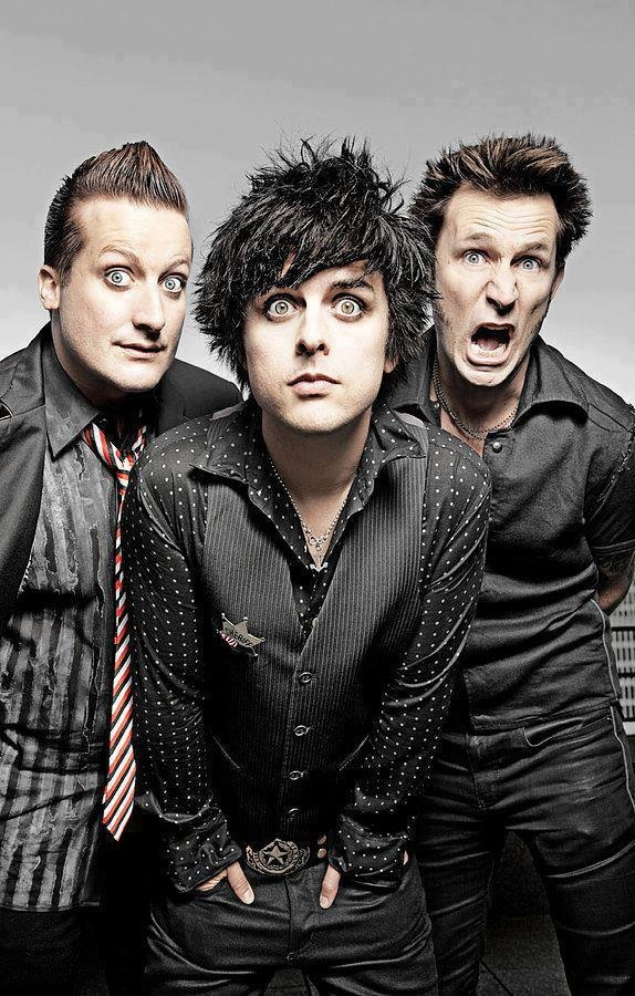 :D green day the guy in the tie looks creepy
