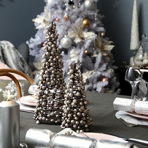 Pastels & Pearls Christmas Theme Pearl Table Trees